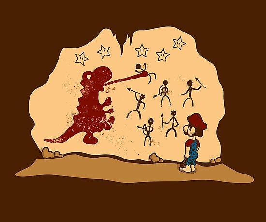 Mario Cave Paint by KentZonestar