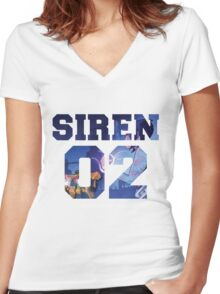 Maya The Siren Women's Fitted V-Neck T-Shirt