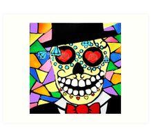 Skeleton groom Art Print