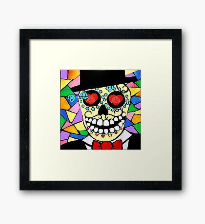 Skeleton groom Framed Print