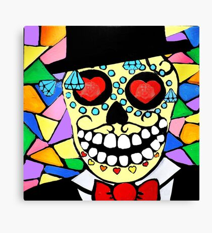 Skeleton groom Canvas Print