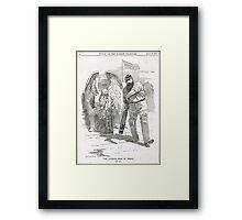 50 years of W G Grace punch cartoon 1898 Framed Print