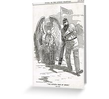 50 years of W G Grace punch cartoon 1898 Greeting Card