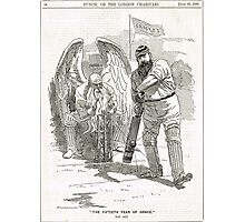 50 years of W G Grace punch cartoon 1898 Photographic Print