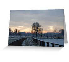Snowy landscapes  Greeting Card