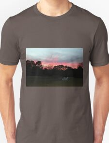 Colorful Sky Above The Trees Unisex T-Shirt