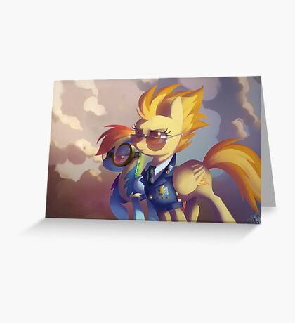 Spitfire and Rainbow Dash Greeting Card