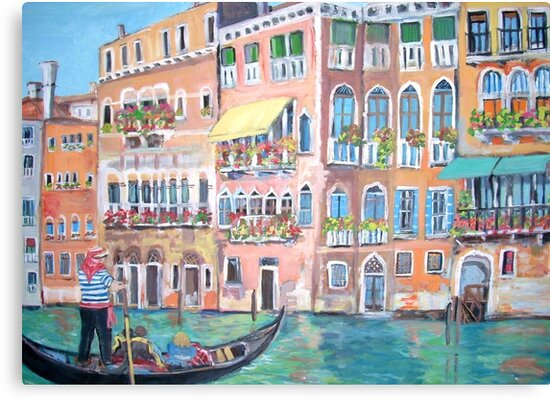 Venice Gondola on Grand Canal by Teresa Dominici