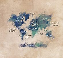 World map continents  by JBJart