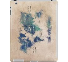 World map continents  iPad Case/Skin