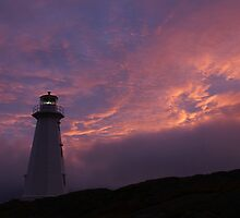 Beacon; Cape Spear Sunrise by Jean Knowles