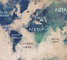 World map continents  Sticker