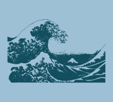 Blue Great Wave Mount Fuji Shirt Kids Clothes