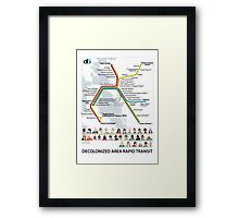 Decolonized Area Rapid Transit (DART) poster Framed Print