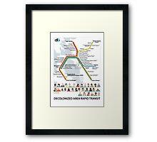 Decolonized Area Rapid Transit (DART) poster Framed Print
