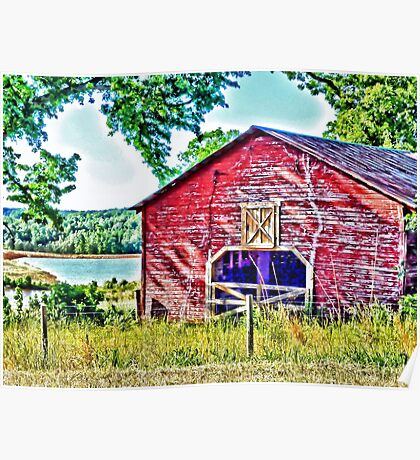 Old Red Barn (HDR) Poster