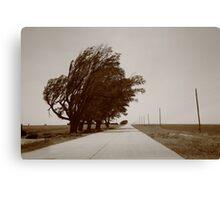 Oklahoma Route 66, 2012, Sepia. Canvas Print