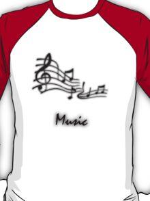 Musical Staff Design T-Shirt