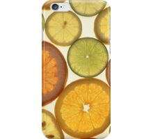 Lemon, Orange and Lime Slices - Yellow Green  iPhone Case/Skin