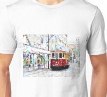 Pushing the Tram Unisex T-Shirt