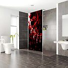 Shower screen splash back  by Martin Dingli