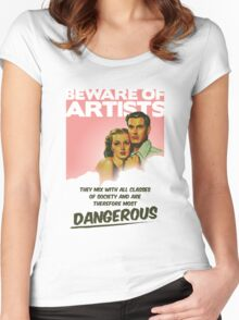Beware of Artists Women's Fitted Scoop T-Shirt