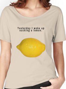 "90's Alternative ""Yesterday I woke up sucking a lemon"" Rock  Women's Relaxed Fit T-Shirt"