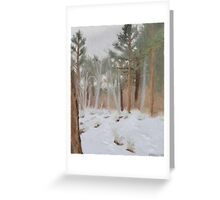 Galena Creek Forest (Plein-air Study) Greeting Card