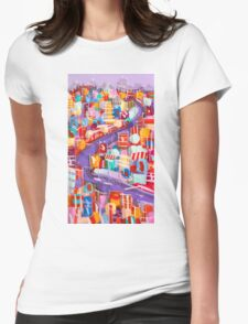 Around the bend Womens Fitted T-Shirt