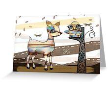 Deer and Owl Greeting Card