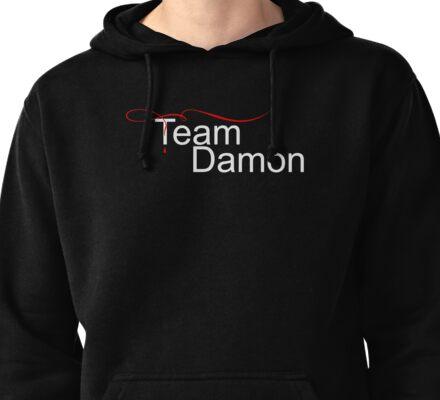 Team Damon Salvatore - for dark Pullover Hoodie
