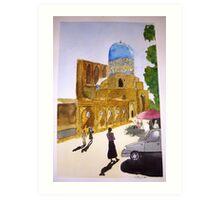 Uzbeki street scene Art Print