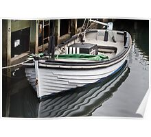 Dinghy reflection Poster