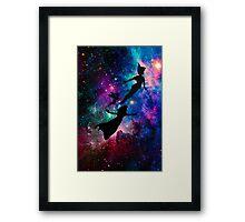 Peter Pan Galaxy Framed Print