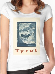 Vintage poster - Tyrol Women's Fitted Scoop T-Shirt