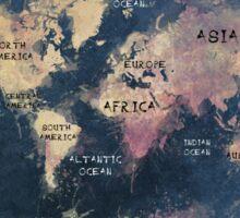 World map blue  Sticker