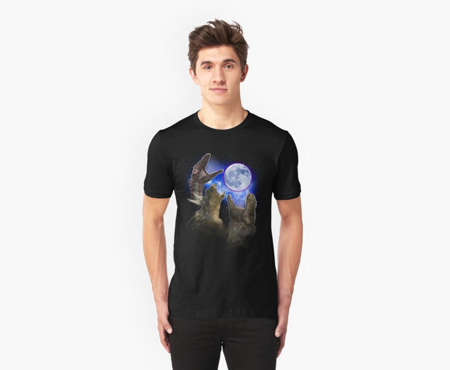 Exclusive Three Dinosaur Moon Shirt! by endlessimages