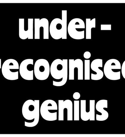 Under-recognised genius Sticker