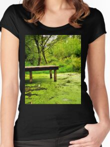 tranquil in green Women's Fitted Scoop T-Shirt