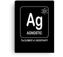 Agnostic -- The Element of Uncertainty Canvas Print
