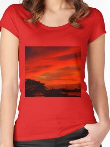 Safe in the harbor Women's Fitted Scoop T-Shirt