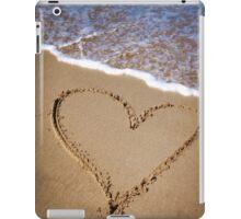 Fleeting Heart on a Sandy Beach iPad Case/Skin