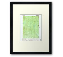 USGS TOPO Map New Hampshire NH Dummer Ponds 329542 1988 24000 Framed Print