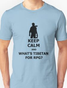 Keep Calm And What's Tibetan For RPG? Black T-Shirt