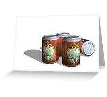 Refreshing Cans of Fishy Pop YUM Greeting Card