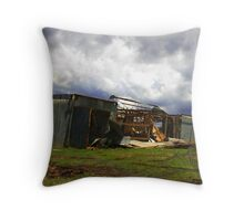 Bushfire Damage Throw Pillow