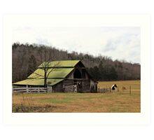 Tucker Barn - Linden, Tennessee, USA Art Print