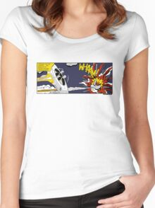 """Whaam!"" Parody Women's Fitted Scoop T-Shirt"