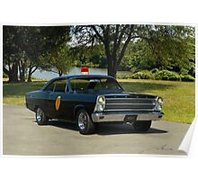 """1966 Ford Fairlane 500 XL """"Highway Patrol"""" Poster"""