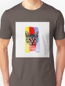 Cat with Primary Colors T-Shirt